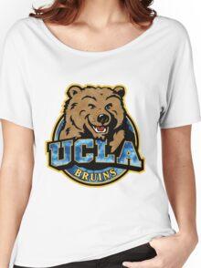 UCLA Bear Logo Grunge Women's Relaxed Fit T-Shirt