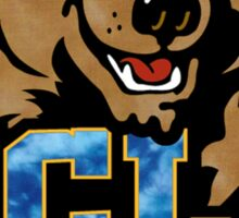 UCLA Bear Logo Grunge Sticker