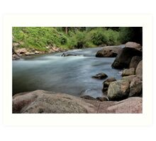 Rocks in Gore Creek, Vail Art Print
