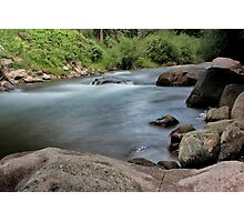 Rocks in Gore Creek, Vail Photographic Print