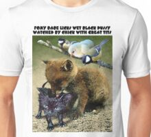 FOXY BABE LICKS WET BLACK PUSSY WATCHED BY CHICK WITH GREAT TITS Unisex T-Shirt