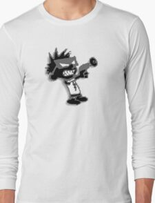 Spaceman Spiff - Black and Grey Long Sleeve T-Shirt