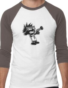 Spaceman Spiff - Black and Grey Men's Baseball ¾ T-Shirt