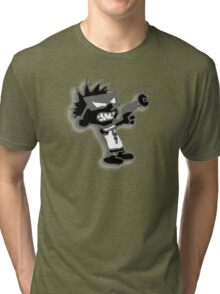 Spaceman Spiff - Black and Grey Tri-blend T-Shirt