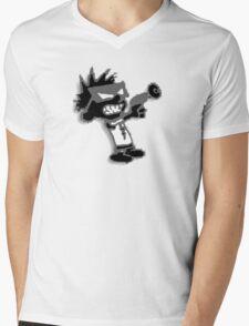 Spaceman Spiff - Black and Grey Mens V-Neck T-Shirt
