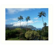 Palms at Hanalei Art Print