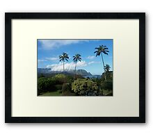 Palms at Hanalei Framed Print