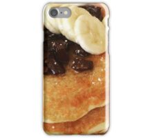 Banana & Chocolate Chip Pancakes iPhone Case/Skin
