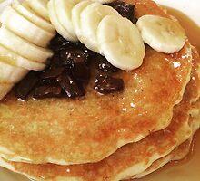Banana & Chocolate Chip Pancakes by Sami Wong