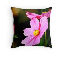 Pink and Yellow Cosmo Throw Pillow