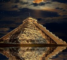 Chichen Itza Ancient Mayan Temple Art by Skye Ryan-Evans