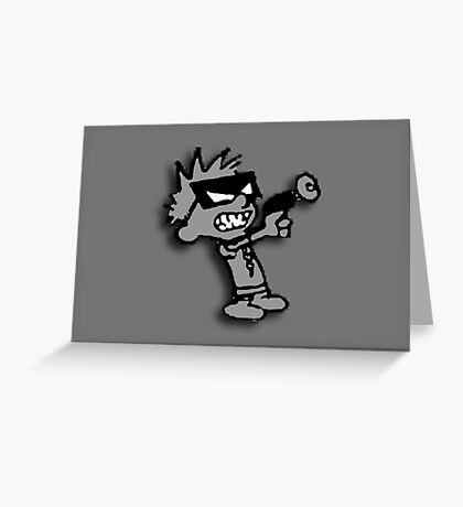 Spaceman Spiff - Greyscale Greeting Card