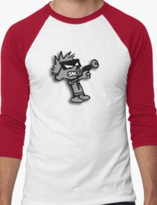 Spaceman Spiff - Greyscale Men's Baseball ¾ T-Shirt