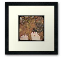 Fresh Water Feet Framed Print