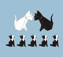 Origami Cats (Slate Blue) Kids Clothes