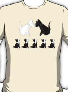 Origami Cats (Sage Green) T-Shirt