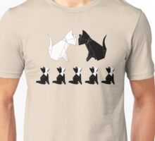 Origami Cats (Sage Green) Unisex T-Shirt