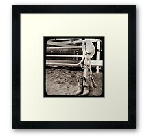 Hat and Boots Framed Print