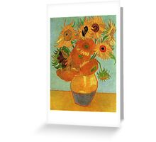 Vase with Twelve Sunflowers, Vincent van Gogh Greeting Card