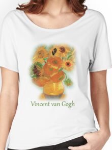 Vase with Twelve Sunflowers, Vincent van Gogh Women's Relaxed Fit T-Shirt