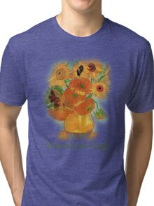 Vase with Twelve Sunflowers, Vincent van Gogh Tri-blend T-Shirt
