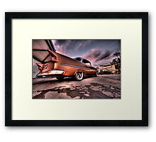 Old Chevy Belair outside car show HDR Framed Print