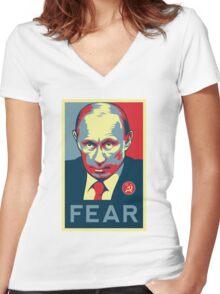 Russian President Vladimir Putin - Fear Women's Fitted V-Neck T-Shirt