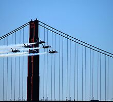 Blue Angels fly by the Golden Gate by N2Digital
