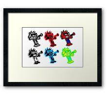 Spiffy Warhol Framed Print