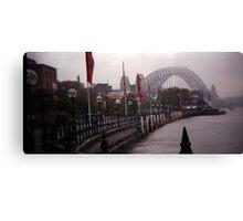Sydney fog Canvas Print