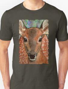 Deer Fawn Wildlife Water-colour Design T-Shirt