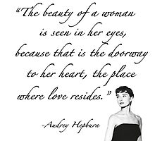 "Audrey Hepburn Quote - ""The beauty..."" by Alaina Perry"