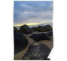 Sunset Behind the Rocks Poster