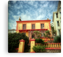 Orange holga house Canvas Print