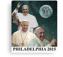 Three Pope Moon Canvas Print