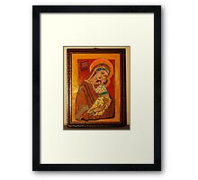St Charlene & baby Troy, Patron of Family Tax Benefit (Part A) Framed Print