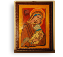 St Charlene & baby Troy, Patron of Family Tax Benefit (Part A) Canvas Print