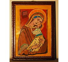 St Charlene & baby Troy, Patron of Family Tax Benefit (Part A) Photographic Print