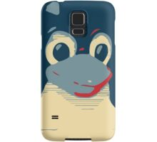 Linux Tux penguin poster head red blue  Samsung Galaxy Case/Skin