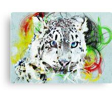 Leopard Ink Canvas Print