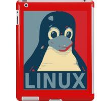 Linux Tux penguin poster head red blue  iPad Case/Skin