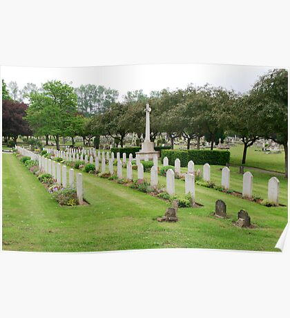 War graves in Northwood Cemetery Poster