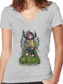 """Biggie Tribute"" Women's Fitted V-Neck T-Shirt"