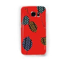 Leaping Cats (Red) Samsung Galaxy Case/Skin