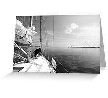 Getting Ready to Sail Greeting Card