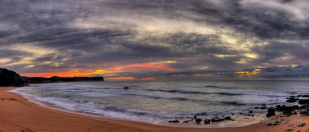 New Day - Warriewood Beach, Sydney (25 Exposure HDR Panoramic)- The HDR Experience by Philip Johnson