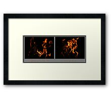 Fire Diptych Framed Print