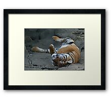 Wrestle with You  Framed Print