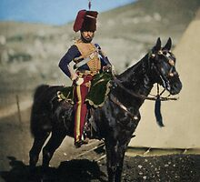 Hussar from the Crimean War - Colourised photo by keefrog