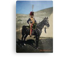 Hussar from the Crimean War - Colourised photo Metal Print